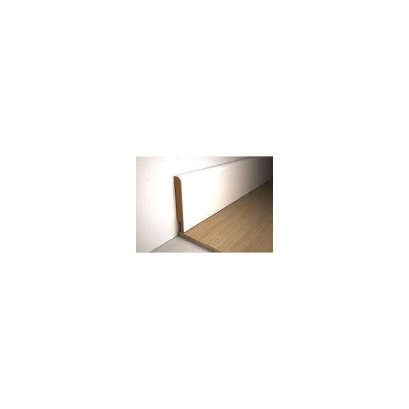 MDF plint, Wit gegrond,15 x 70 mm.