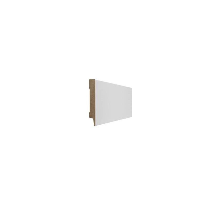 MDF plint, Wit gegrond,15 x 120 mm.