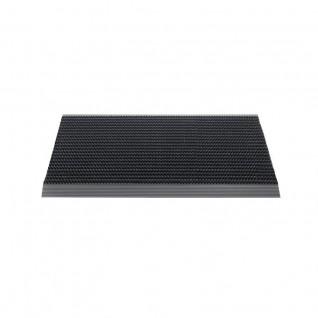 VOS luxe buitenmat puur zwart met alu strip 50 x 80 cm