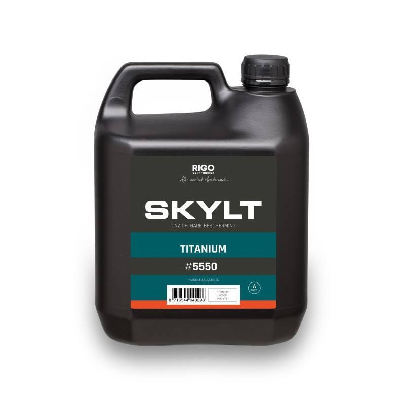 RigoStep Skylt Titanium vloerlak set component A & B 4L.