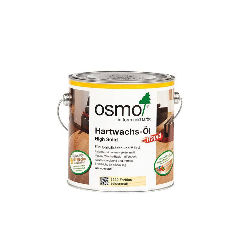 Osmo Hardwax olie Mat Polyx Rapid 3262, 2,5 Liter