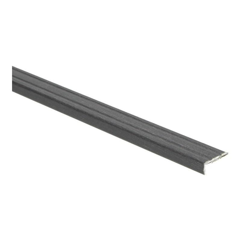 Hoeklijn profiel 10 mm Wengé zwart