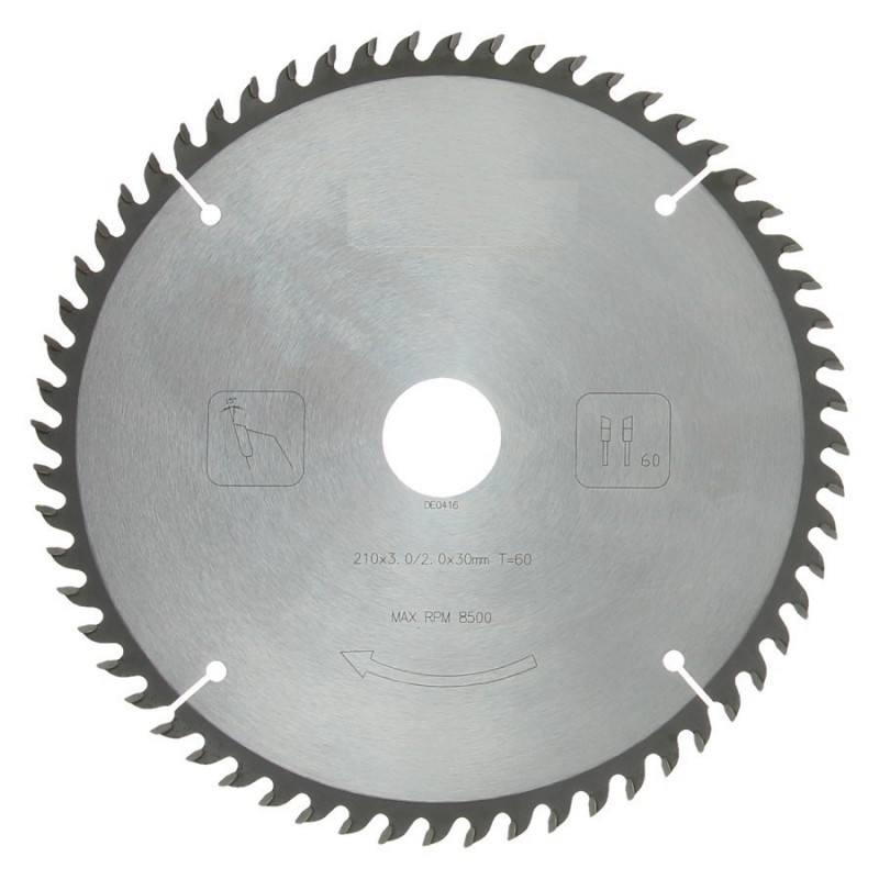 Zaagblad PROF 210 x 30 mm T60 (hout)