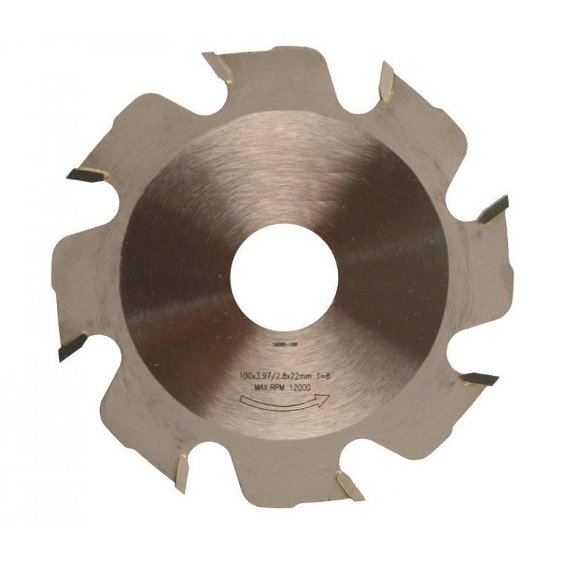 Lamellenfrees zaagblad 100x4x22mm T8