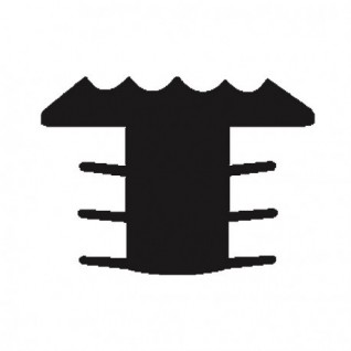 Trap antislip T-profiel/ trapneusprofiel grijs (infrezen)