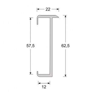 Trapproffiel  60 mm tbv laminaat 7-9,5 mm zwart (3 meter)