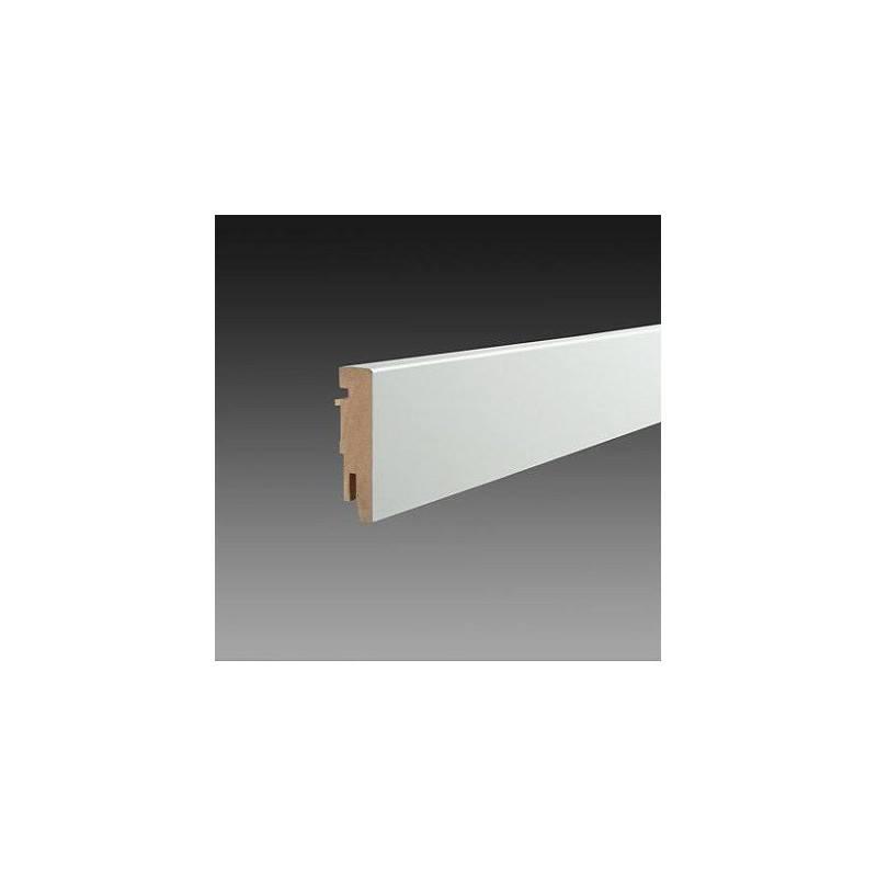 MDF plint Robuust de luxe 75 x 18 x 2400 mm Wit gefolied