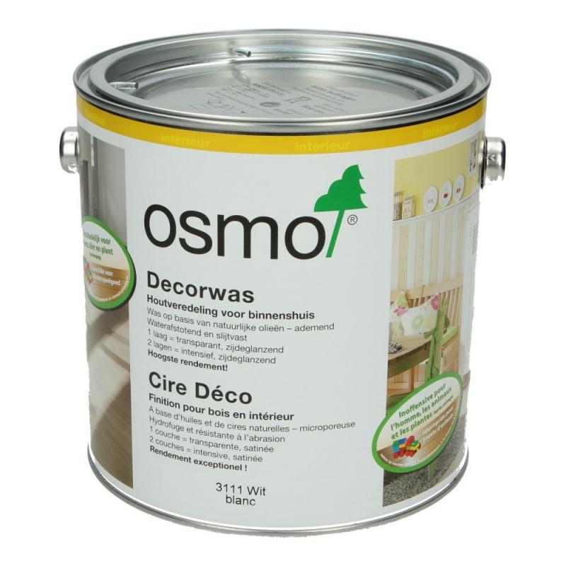 Osmo Decorwas Wit 3111, 2,5 Liter