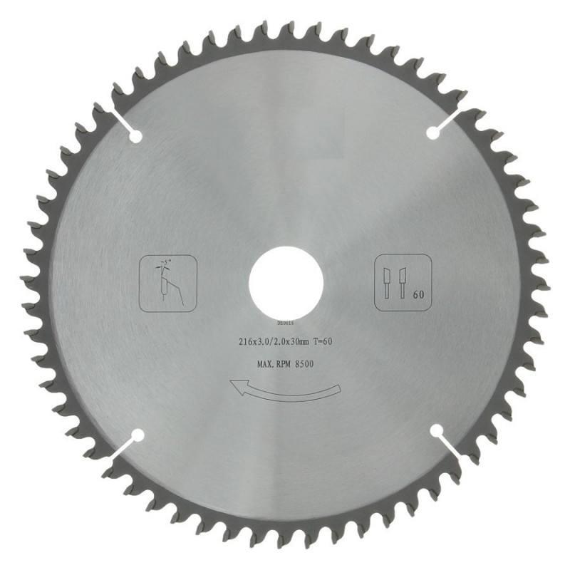 Afkortzaagblad PROF 216 x 30 mm T60