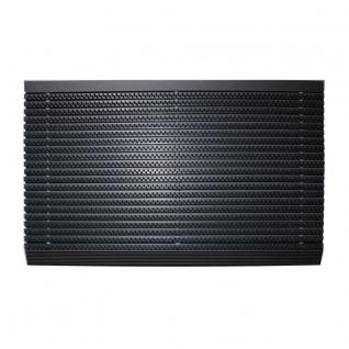 VOS luxe buitenmat, zwart met antraciet strip, 50 x 80cm