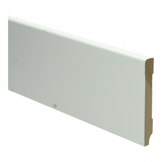 Plint Modern 90 x 12 x 2400 mm. MDF RAL kleur 9010