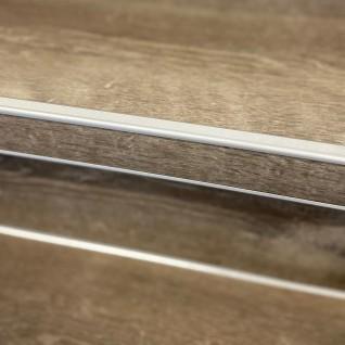 Trapproffiel  60 mm tbv laminaat 7-9,5 mm RVS look geborsteld (3 meter)