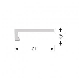 Hoeklijnprofiel zelfklevend 4 mm tbv PVC klik zilver, 250 cm lang