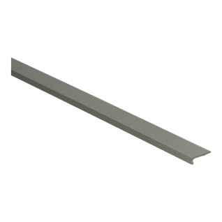 Hoeklijnprofiel zelfklevend 4 mm tbv PVC klik RVS, 250 cm lang