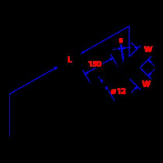 Paalhouder/palensteun met punt 71x71x750 mm