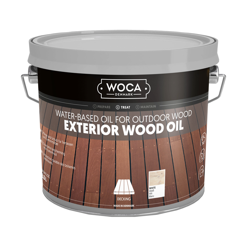 WOCA Exterior Oil Wit 2,5 L