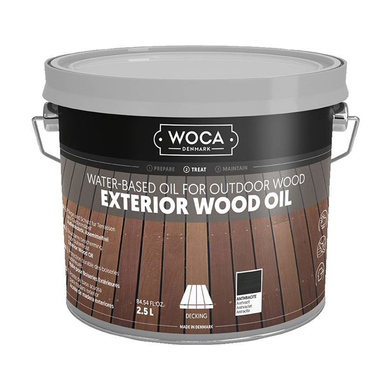 WOCA Exterior Oil Anthraciet 2,5 L