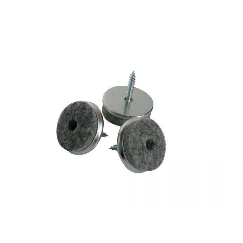 schroefviltjes metaal ø 24mm 16st